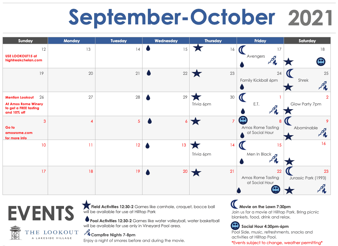 Lookout Fall Events & Activities